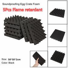 5Pc 2cm*50cm*50cm Car KTV Soundproofing Sound Absorption Acoustic Foam Egg Crate