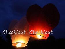40 MIXED RED WHITE HEART Flying Sky Paper Kongming Wishing Lantern Wedding