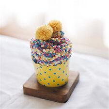 1pc Women 's Cake Socks Bubble Coral Cashmere Gift Box Pearl Velvet Female Socks