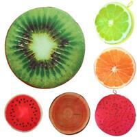 Soft Round Pillow Plush Cushion Orange Kiwi Watermelon Fruit Seat Toys Seat Pad
