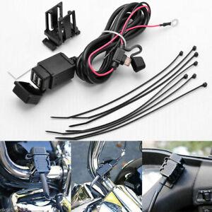 Cavo presa connettore dual usb batteria manubrio cruscotto moto impermeabile new