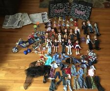 Huge lot Bratz dolls clothing shoes accessories cases Motorcycle~free shipping