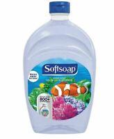 SOFTSOAP Liquid Hand Soap Refill Aquarium BIG 50 oz Clear Bottle 800 Dispenses