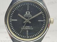 Vintage Titus Mens Analog Dial Mechanical Handwinding Wrist Watch VG288
