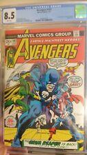 Avengers #107 CGC 8.5 VF+ White Pages 1973 Grim Reaper Space Phantom WandaVision