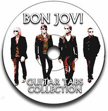 BON JOVI ROCK GUITAR TAB TABLATURE SONG BOOK ANTHOLOGY TUITION SOFTWARE CD