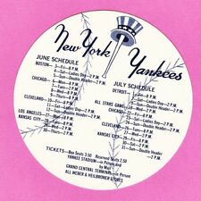 NICE  SCARCE 1960 NEW YORK YANKEES SCHEDULE COASTER?