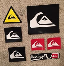 Quiksilver Vintage RARE Sticker Collection - Lot of 7 - Black Red Yield