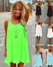 Women Summer Sleeveless Boho Mini Short Dress Ladies Casual Beach Party Sundress