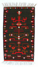 More details for tree / abstract vintage modernist polish textile wall hanging rug new old stock