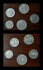 Coin Hunt Collectible 5 x old Russian silver coin various years and denomination