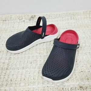 Literide By Crocs Womens 8 Mens 6 Black Slip-On Perforated Comfort Shoes