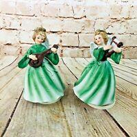 2 vtg berman & anderson angel music box Christmas Decor
