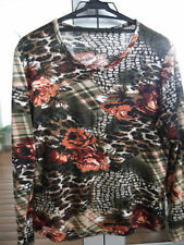 Cotton Blend Thin Knit Floral Regular Jumpers & Cardigans for Women