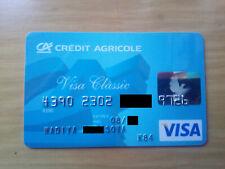 VISA classic dove hologram CREDIT AGRICOLE bank expired debit card from Ukraine