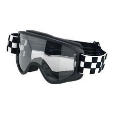 Biltwell Moto Goggle 2.0, Motorradbrille, Checkers, für Jethelme / Antibeschlag!