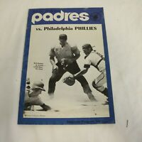 1971 San Diego Padres vs Philadelphia Phillies Souvenir Program