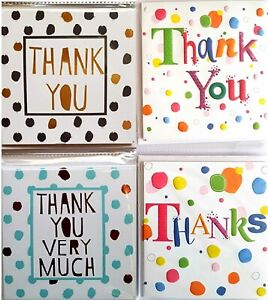 Small Thank You Cards - 16 Pack - 4 Designs with envelopes by Simon elvin