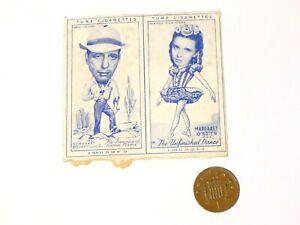 TWIN Carreras Turf Brand Card Humphrey Bogart Margaret O'Brien CUT