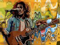 Bob Marley canvas A4 print