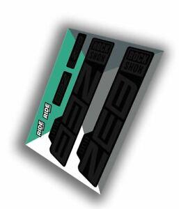 RockShox Zeb Select Decal Kit   Stealth   MY21 (Model Year 2021)
