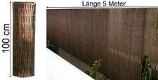 Blickschutz Weidenmatte 100 x 500 cm Windschutz Sichtschutz Zaun Balkon Weiden