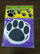 Black Paw Prints ~ 30 Accents ~ Teacher Created Resources ~ Brand New