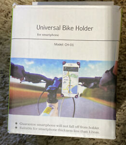 Universal Bike Holder for Smartphone Black With Pink Accent