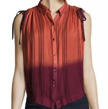 Free People Dip Dye Ombre Tie Sleeve Top Large