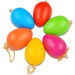 bunte Ostereier ★ Plastik ★ 6 Farben ★ für drinnen u. draußen ★ mit Aufhängeöse