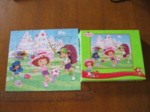 Strawberry Shortcake Berry Fun RoseArt 63pc Kids Puzzle Soccer Match