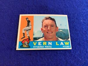 1960 Topps Mid High # 453 Vern Law NM
