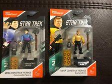 Star Trek Mega Construx Series 2 Heroes Captain Kirk & Commander Spock