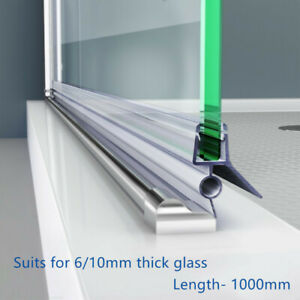 Shower Door PVC Water Seal Strip, Length:1000mm (Suit 6mm/10mm glass) 0
