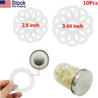 US 10 Pcs Silicone Airtight Sealing Rings Gaskets For Leak Mason/Ball/Kerr Jars