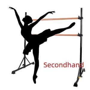 Secondhand Portable Double-Ballet Bar for Home Kids Ballet Bar 5ft Adjustable