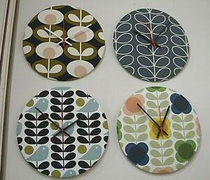 Handmade fabric clock - Orla Kiely - large range of patterns