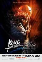 "KONG SKULL ISLAND Movie Poster [Licensed-NEW-USA] 27x40"" Theater Size (B) 2017"