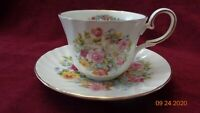 Royal Patrician English Bone China Tea Cup Saucer Pair of Lovebirds in Flowers
