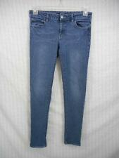 43c85149119 DAISY FUENTES 6 Skinny Denim Blue Jeans 30 x 28 Stretch NEW VINTAGE whisker  i46
