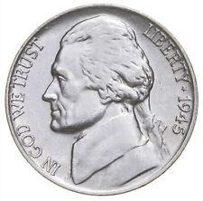 5c BU Unc MS 1945-P Jefferson WARTIME Silver Nickel *677