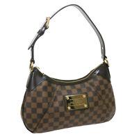 LOUIS VUITTON THAMES PM HAND BAG AR3101 PURSE DAMIER EBENE N48180 AUTH 38039