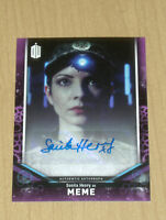 2018 Topps Doctor Who signature series AUTOGRAPH Sonita Henry as MEME