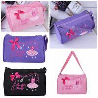 Girls Students Ballet Dance Bag Handbag Tote Embroidered Shoulder Bag Duffel Bag