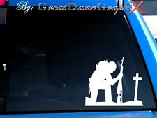 Marine/Soldier Cross style #1 Vinyl Car Decal Sticker/Choose Color-High Quality