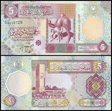 Libya 5 Dinars, 2002, P-65a, UNC