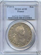 LOUIS XV (1715-1774) ECU MIT 8 L 1725 X AMIENS PCGS AU53