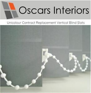 """Unicolour Welded Made to Measure Replacement Vertical Blind Slats 3.5"""" & 5"""""""