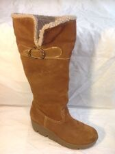 Aldo Brown Knee High Suede Boots Size 39