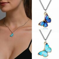 Fashion Butterfly Clavicle Chain Choker Pendant Necklace Personalized Women Gift